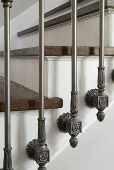 Iron Stair Rails, Staircase, Detail | @lucaseilers