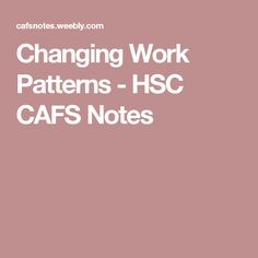 Social Factors Leading to Changing Work Patterns