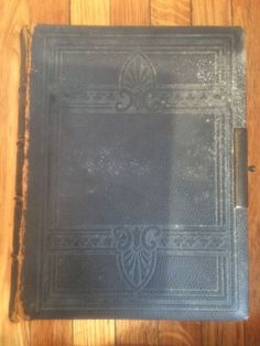 Antique 1878 Oxford Family Bible Embossed Leather NYC Huge! 9 lbs
