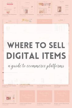 Ecommerce platforms or where to sell digital products · Elan Blog Studio