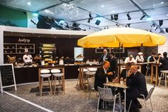 #buhler #interpack #dusseldorf #messe #messebau #trade #fair #exhibition #design #chair #table #cafe #bakery #boulangerie #patisserie #parasol #schweizermessebau