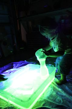Glow water for black lights ....perfect for toxic waste haunts or a fountain that needs a little freakiness.