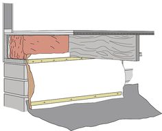 Crawl space entry well and weather tight door exterior for Floating slab foundation cold climates
