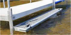 """Get closer to the water with our boarding steps! Perfect for the canoe or kayak owner! Aluminum Boarding Step. Ready to install! 15"""" x 10' Aluminum Boardin"""