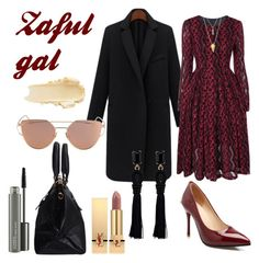 """Zaful Gal"" by amrinjo ❤ liked on Polyvore featuring Yves Saint Laurent and MAC Cosmetics"