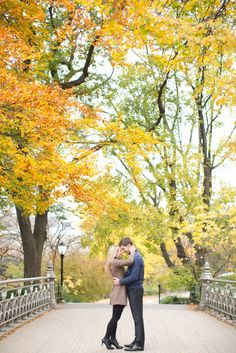 New York City, NYC, engagement session in the fall. Autumn was the perfect time in Central Park!