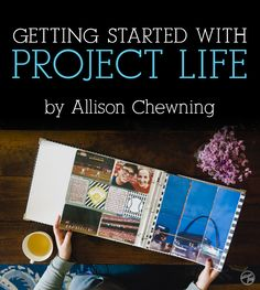 """Getting started with a simple scrapbooking method. A """"How To"""" article by Allison Chewning at The Photographer Within. Project Life Baby, Project Life Cards, Scrapbook Sketches, Scrapbook Cards, Pocket Page Scrapbooking, Scrapbooking 101, Smash Book Planner, Smash Book Inspiration, Project Life Organization"""