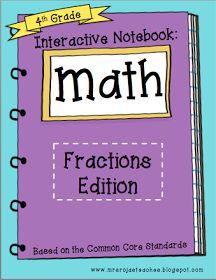 Create●Teach●Share: Interactive Math Notebook - Final Edition: Fractions!