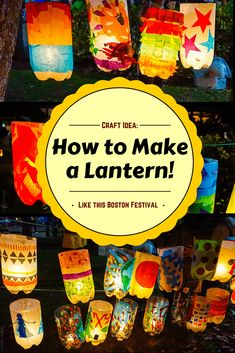 Create Your Own Lantern Festival: A Beautiful Art Project How to make a lantern from simple materials at home (ex: Soda bottles). Craft activity inspired by the Jamaica Plain Lantern Festival and Parade in Boston, MA. Lantern Crafts, Diy Lantern, Lantern Making, Light Crafts, Recycled Art Projects, Simple Art Projects, Recycled Crafts For Kids, Recycling Projects For Kids, Crafts From Recycled Materials