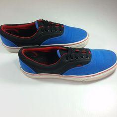0da57d63c68 VANS Authentic Classic Canvas Shoes Surf the Web Black Blue Men 9 Women  10.5  VANS  LowTop