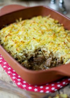 Low FODMAP Recipe and Gluten Free Recipe - Beef pie with crisp potato crust http://www.ibs-health.com/low_fodmap_beef_pie_potato_crust.html