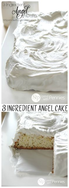3 Ingredient Pineapple Angel Food Cake is amazingly easy & delicious! With cool whip topping, this quick recipe takes just one bowl for a no fail dessert! (The cake itself is also fat free )!