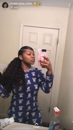 Slick Ponytail, Hair Ponytail Styles, Weave Ponytail Hairstyles, Ponytail Bun, Teen Hairstyles, Baddie Hairstyles, Black Girls Hairstyles, Curly Hair Styles, School Picture Hairstyles