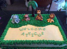 Fondant animal jungle cake