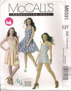 McCall's Sewing Pattern M6331  Misses' Romper and by chails01, $10.00