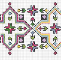 Discover thousands of images about Motif Cross Stitch Pillow, Cross Stitch Borders, Cross Stitch Rose, Cross Stitch Designs, Cross Stitching, Cross Stitch Patterns, Folk Embroidery, Cross Stitch Embroidery, Embroidery Patterns