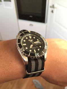 Seiko Sea Urchin. SNZF17 with a grey and black Nato strap