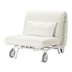 IKEA - IKEA PS LÖVÅS, Sillón cama, Gräsbo blanco,  , , Se convierte fácilmente en cama.Debido a sus ruedas, es fácil desplazar el sofá para limpiar o cambiar los muebles de sitio.Puedes elegir entre colchones de tres medidas diferentes y una amplia gama de fundas para crear tu combinación ideal.Gracias a nuestro surtido de fundas, podrás cambiar fácilmente la decoración de la habitación.