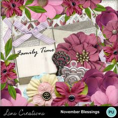 Digital Scrapbooking Kits | November blessings kit-(LinsCre) | Family, Holidays - Thanksgiving, Memories, Seasons | MyMemories