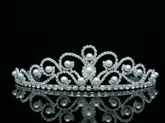 Bridal Rhinestones Crystal Pearl Wedding Tiara Crown -- More info could be found at the image url.
