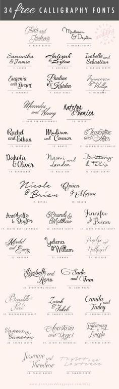 A follow-up to my post about amazing modern calligraphy fonts: here are 34 FREE calligraphic script fonts for hand-lettered, flowing wedding stationery! All the fonts listed below are absolutely free for personal use (some are free for commercial use, too – check the license!) which means you can use any and all of these to … by judith