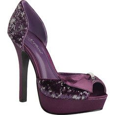 Look at this Night Moves by Allure Purple Starlight Peep-Toe Pump on today! Bling Shoes, Prom Shoes, Buy Shoes, Bling Bling, Me Too Shoes, Fancy Shoes, Dress Shoes, Peep Toe Pumps, Women's Pumps