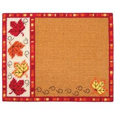Craftways® Fall Leaves Place Mat Plastic Canvas Kit Was: $24.00                     Now: $16.99