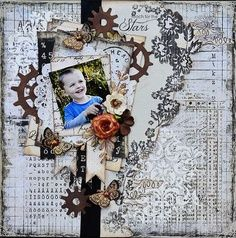 Reach for The Stars - Janine Koczwara Scrapbooking Layouts, Scrapbook Pages, Reaching For The Stars, Paper Flowers, Card Making, Lay Outs, Paper Crafts, My Love, Fun Things