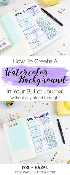 How To Create a watercolor Background In Your Bullet Journal