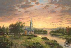Sunrise Chapel by Thomas Kinkaid