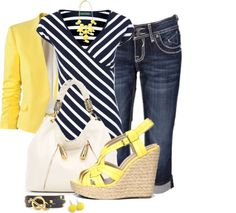 """""""Spring Capris"""" by averbeek on Polyvore"""