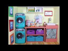 Doll Washing Machine | DIY American Girl Doll Crafts - YouTube