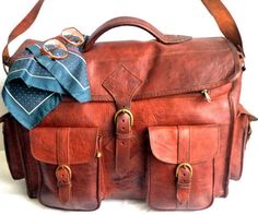 Awesome  70s Duffel Bag Thick Cowhide Artisan by MushkaVintage3