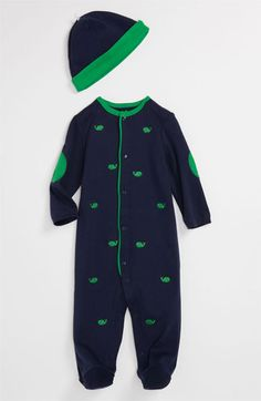 Little Me 'Whales' Footie & Hat (Infant) available at #Nordstrom