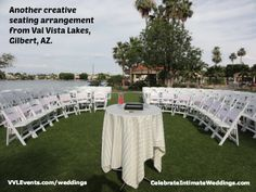 Never be afraid to break from tradition!  Here's a creative way to seat your wedding guests!