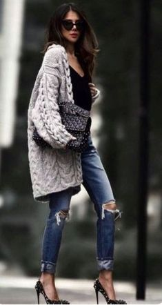 30 Outfit-Ideen, die Ihre Herbstmode inspirieren 30 outfit ideas that will inspire your fall fashion inspire 50 autumn outfit ideas, Outstanding Casual Ideas to Wear Your Cam 30 Outfits, Mode Outfits, Spring Outfits, Casual Outfits, Fashion Outfits, Unique Outfits, Fashion Ideas, Casual Jeans, Fashion Clothes