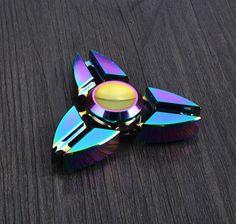Rainbow-New-Tri-Fidget-Hand-Spinner-Triangle-Torqbar-Brass-Finger-Toy-EDC-Focus
