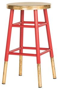 Gabriel Counterstool Red/Gold by Safavieh
