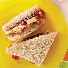 PB Sandwich   MyRecipes.com Add a layer of sliced bananas to updatethe classicPB&J sandwich.