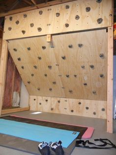 climbing wall for the boys