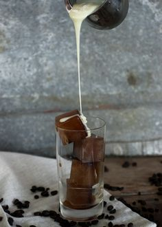 Iced Coffee with Sweetened Condensed Milk & Coffee Ice Cubes