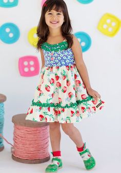 Matilda Jane Fruit and Flan dress with matching socks - Happy and Free