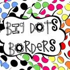 20 colourful big dots borders. All borders are the same style in 20 different colour combinations.All files are PNG files. Centres are white. If ...