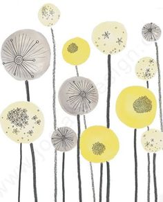 6.  I love the look of these whimsical flowers.  Decorate your page with a border of non-realistic flowers.  Pattern Jo Clark | print & pattern: DESIGNER - jo clark -