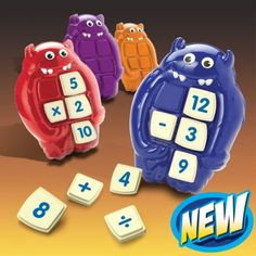 Monstermatics - learn addition, subtraction, multiplication and division with this fun game