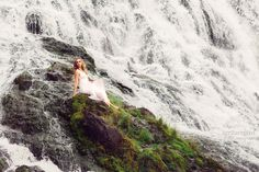 Waterfall Fashion Photography Session - Prince George British Columbia