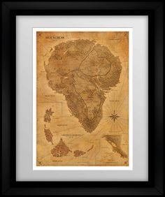 e646859e96619 Jurassic Park Map - Sepia Jurassic Park Party