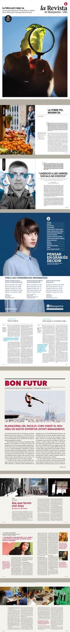 Maqueta, La revista de Blanquerna, 32, 2015 #design #university #Blanquerna