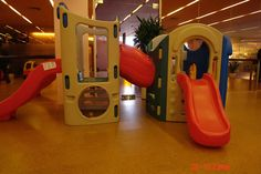 """""""Golden Beach"""" cork floating floor in a children's playground - you might call it a jungle-gym."""
