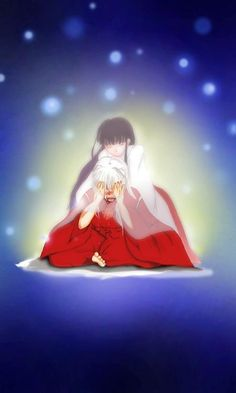 I don't ship Inuyasha with Kikyo but this is a pretty and beautiful picture ^_^ ^.^ ♡